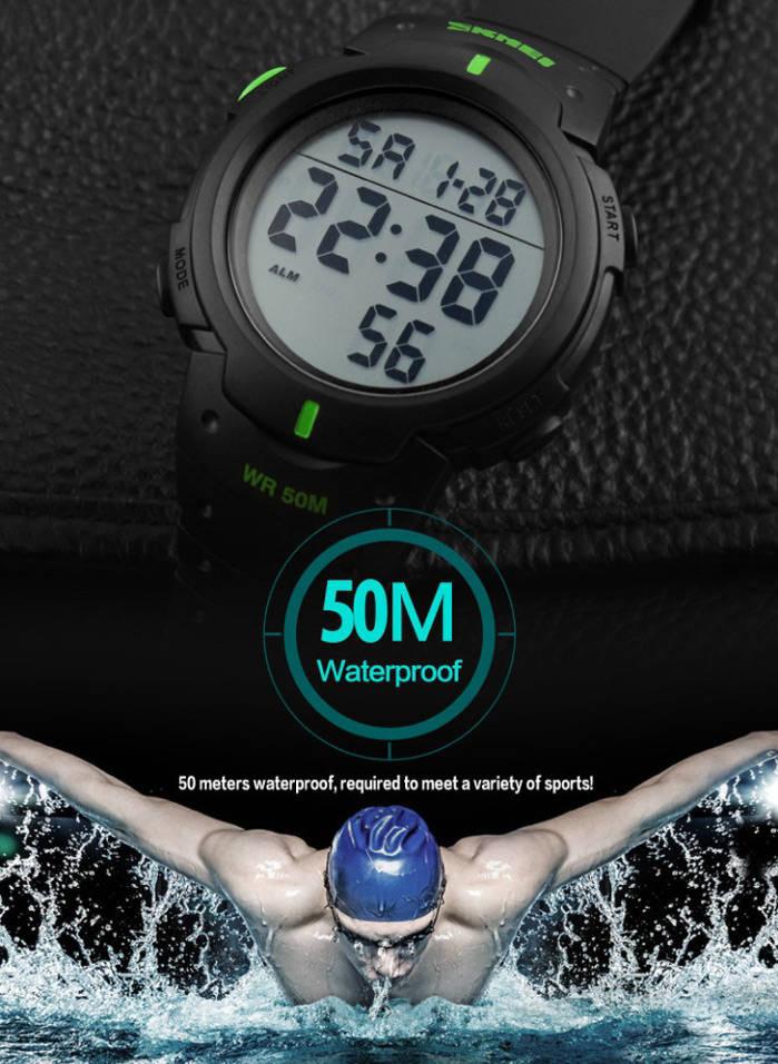 ORIGINAL! SKMEI Jam Tangan Sporty Olahraga Pria Tahan Air 50M DG-1068 - Hitam