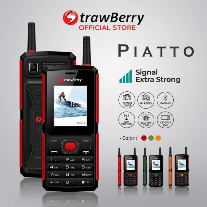 harga Strawberry – piatto | handphone candybar hp murah kamera bluetooth - orange Tokopedia.com