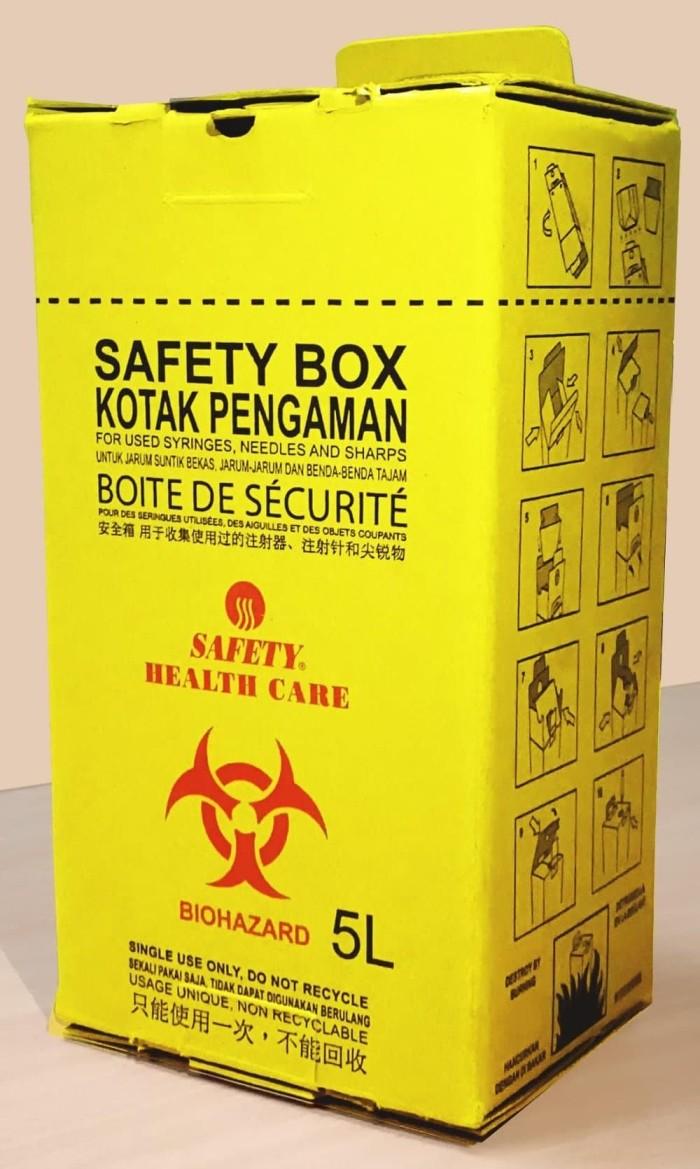 Jual STOK TERAKHIR Tempat Sampah Medis Sharp Container Safety Box M Populer Jakarta Pusat VeroZA