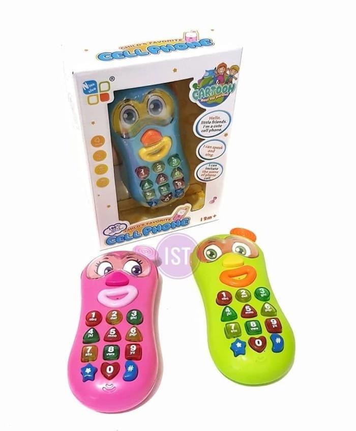 Jual Cell Phone Penguin Handphone Mainan Anak Kecil Balita Bayi Hp