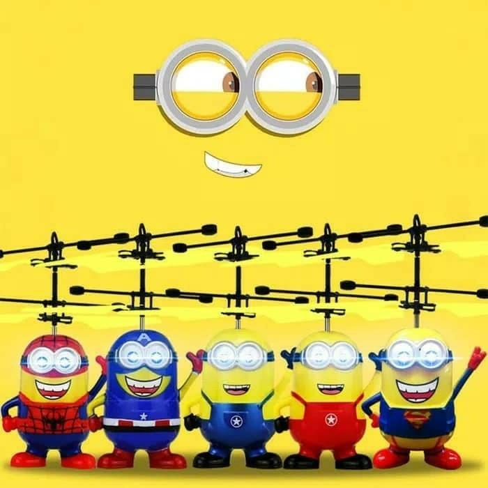 Harga Flying Toy Mainan Anak Helikopter Minion Terbang Heroes Series Harga Rp 60.000