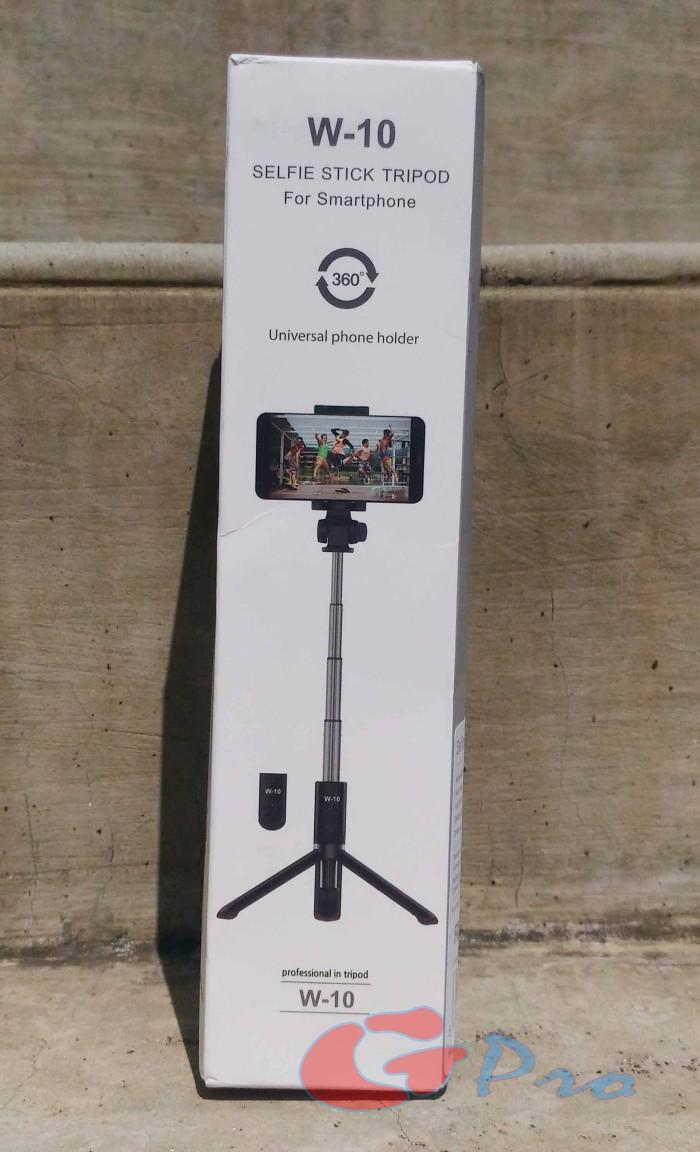 W-10 Selfie Stick Tripod Tongsis Bluetooth 3 in 1 - Hitam