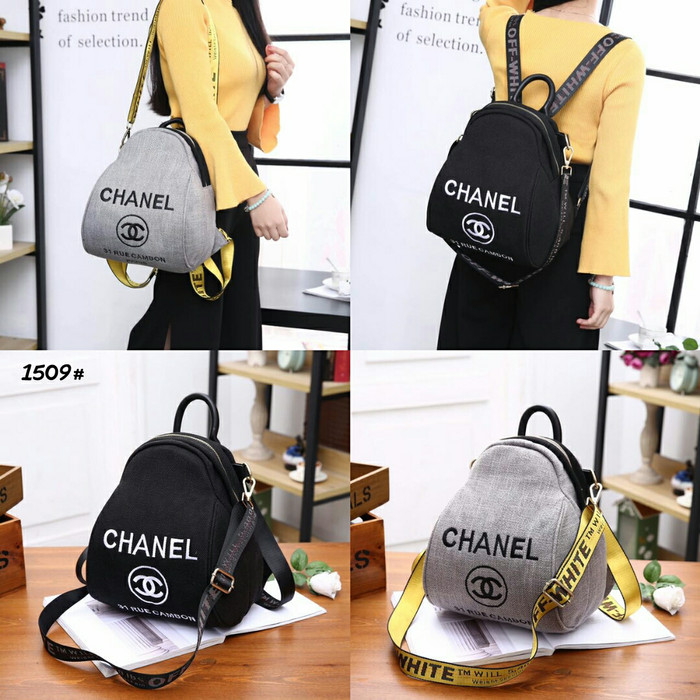 963c757a4a62 Jual Chanel 31 Rue Cambon Backpack Multy Fungsi 1509#22 Bahan kanvas ...