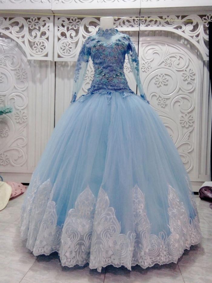 harga Gaun baju kebaya pengantin barbie baby blue model atasan 3d Tokopedia.com