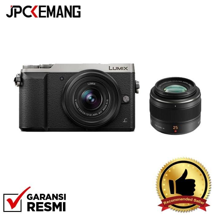 harga Panasonic gx85 kit 12-32mm + panasonic leica 25mm f/1.4 - perak Tokopedia.com