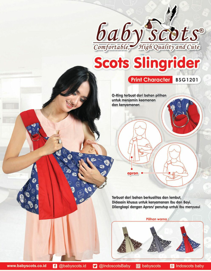 harga Gendongan ring / gendongan samping / baby scots / scots slingrider Tokopedia.com