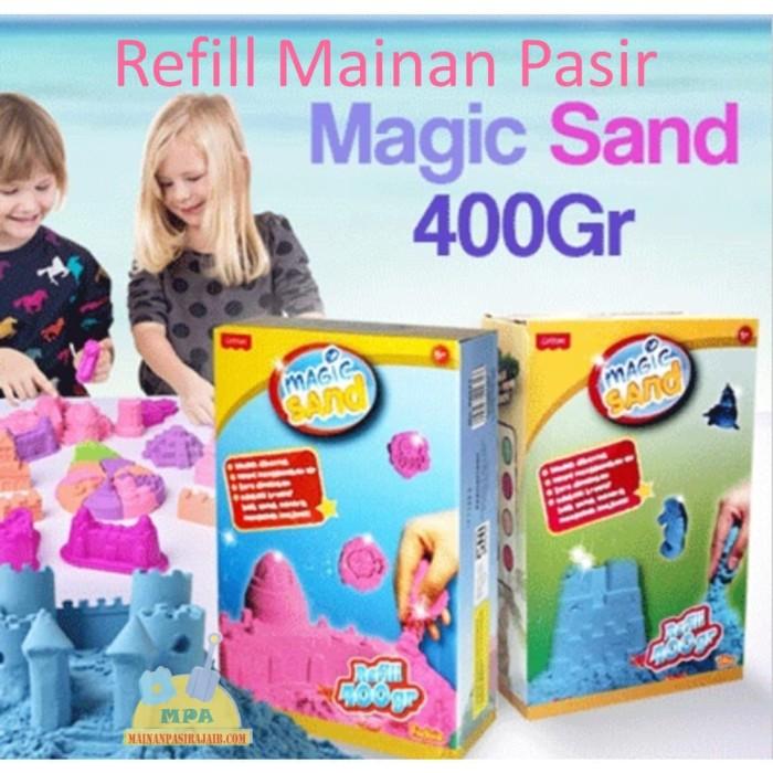 Refill Pasir Ajaib Kinetik Magic Model Play Sand - Biru