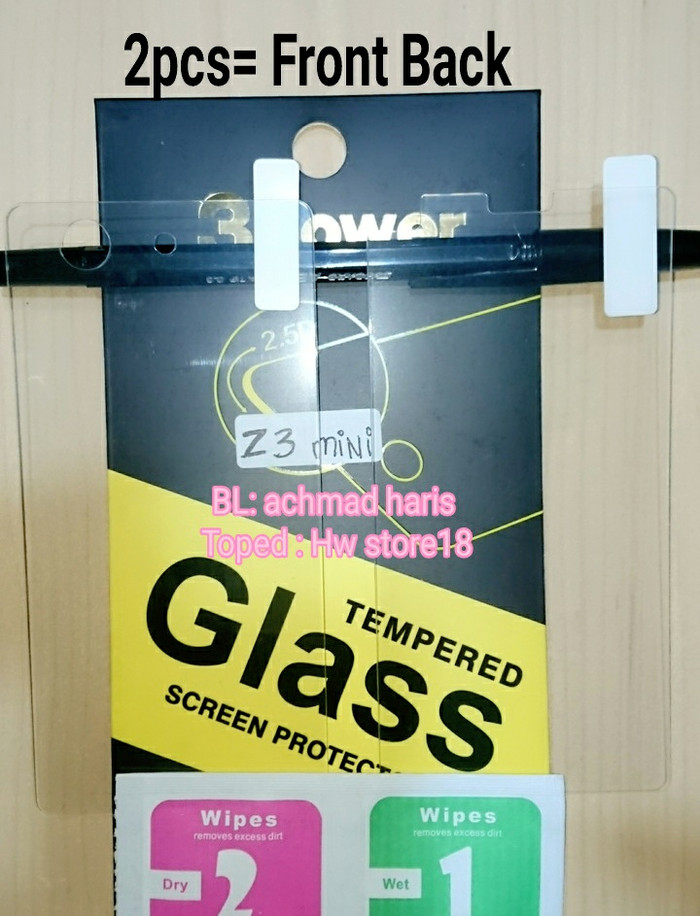 ... harga Tempered glass depan belakang front back sony xperia z3 compact mini Tokopedia.com
