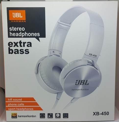 Ongekend Jual JBL Harman/Kardon Stereo Headphones Extra Bass XB 450 Putih XN-75