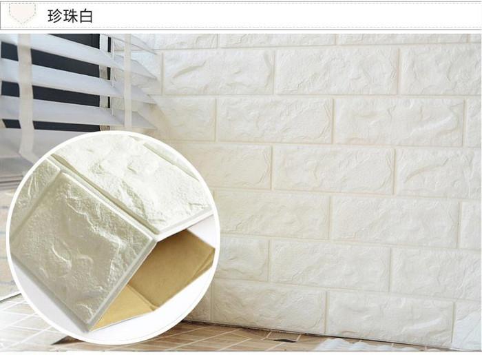 Foto Produk Wallpaper foam 3D bata block,uk 70cm x 77cm || Wallpaper dinding dari dedengkot wallpaper