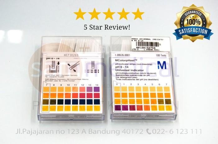 MERCK Universal indicator pH 0-14 / Kertas Lakmus pH paper 100pcs