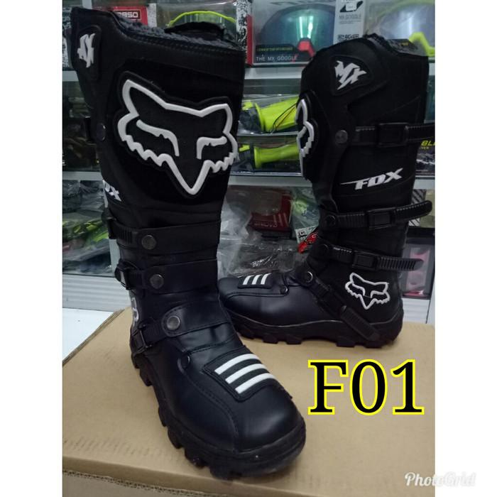 Jual Sepatu cross trail cros offroad motocross hitam murah lokal ... f02db1a008