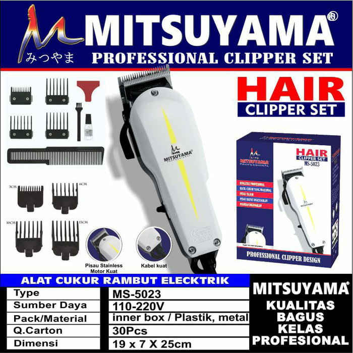 Foto Produk MITSUYAMA PROFESIONAL HAIR CLIPPER SET MS-5023 / ALAT CUKUR RAMBUT dari QR_srored