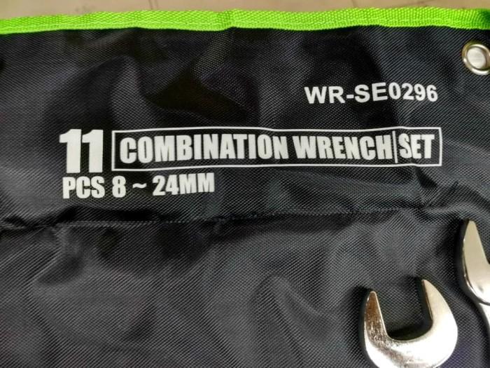 KUNCI RING PAS SET 11 PCS 8-24 MM TEKIRO COMBINATION WRENCH WR-SE0296