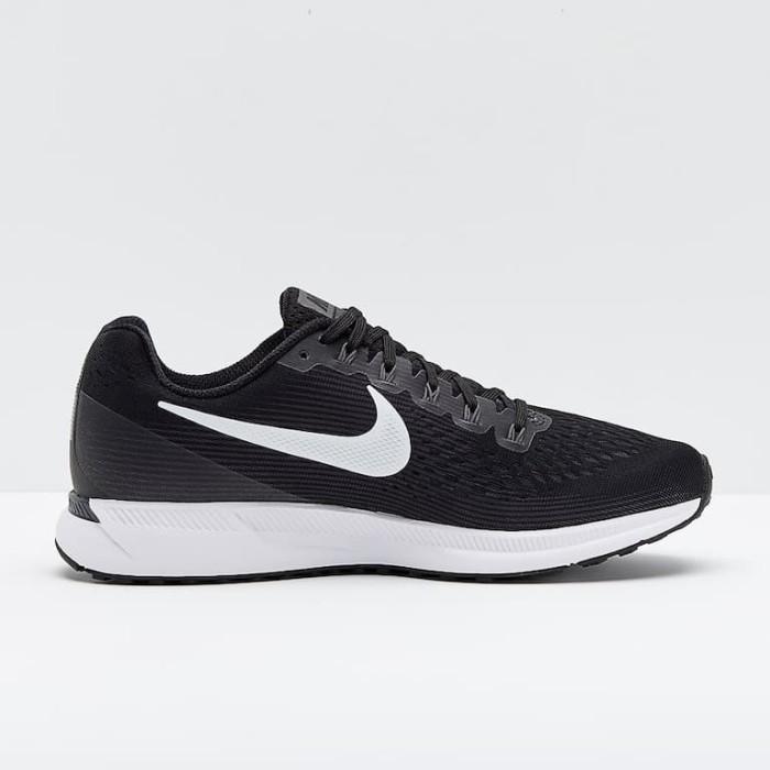 94e5fcc86596 Jual Nike Air Zoom Pegasus 34 Black White Dark Running Men Original ...
