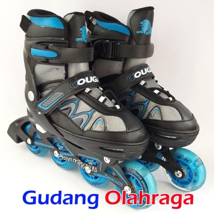 Jual Sepatu Roda COUGAR Inline Skate MZS835L Balck Silver - Gudang ... 0153d5fb58