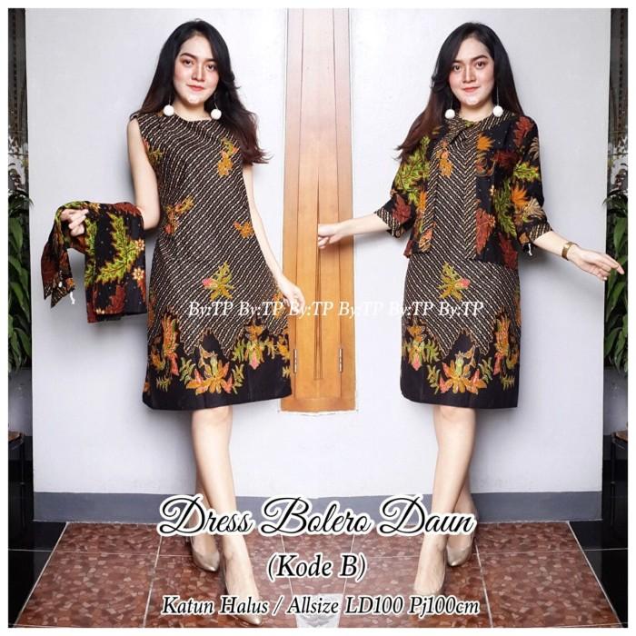 harga Dress batik etnik dengan bolero bisa dilepas murah ukuran allsize Tokopedia.com