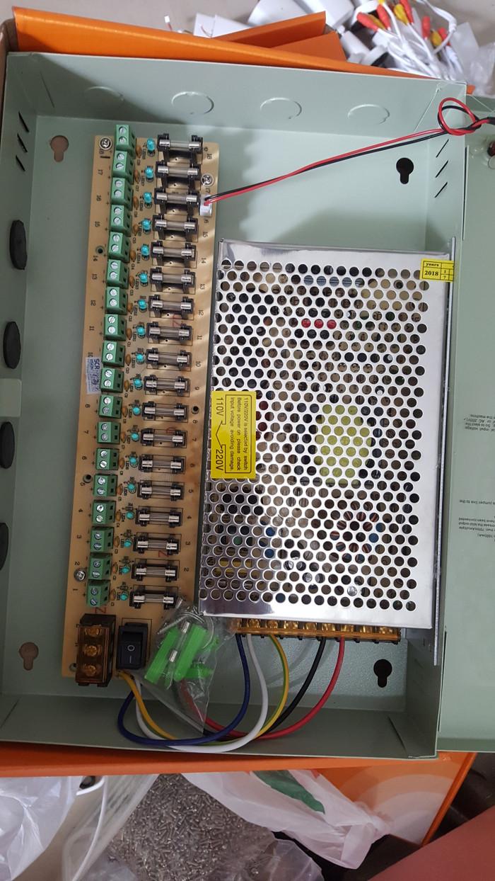 harga Power supply box 20a 12v 18 ch + fan/12v central panel cctv adaptor Tokopedia.com