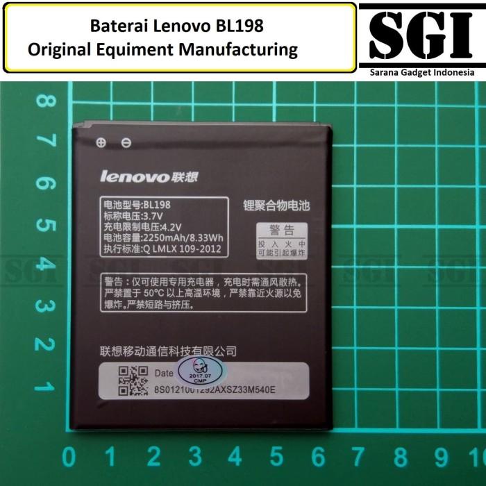 harga Baterai handphone lenovo bl198 k860 a830 original oem batre batrai hp Tokopedia.com