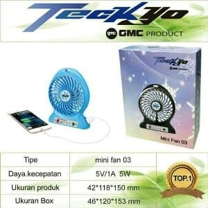 Power Bank Kipas Angin Mini Portable-Mini Fan USB Porta Diskon