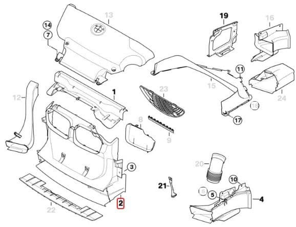 e46 bumper diagram