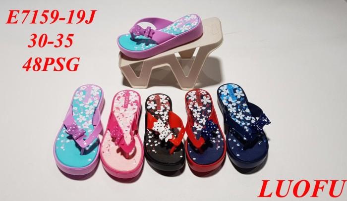 harga Lf7158-19tg t:35cm luofu sandal jepit anak cewek karet motif bunga Tokopedia.com