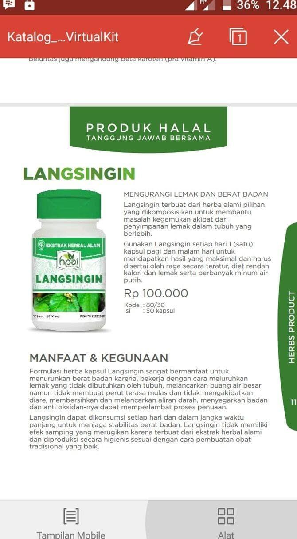 Segini Daftar Harga Langsingin Hpai Pelangsing Herbal Murah Terbaru Hni Pw Info
