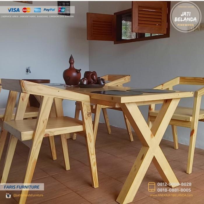 Jual Set Meja Kursi Cafe Jati Belanda Custom Kota Bekasi Furniture Jati Belanda Tokopedia