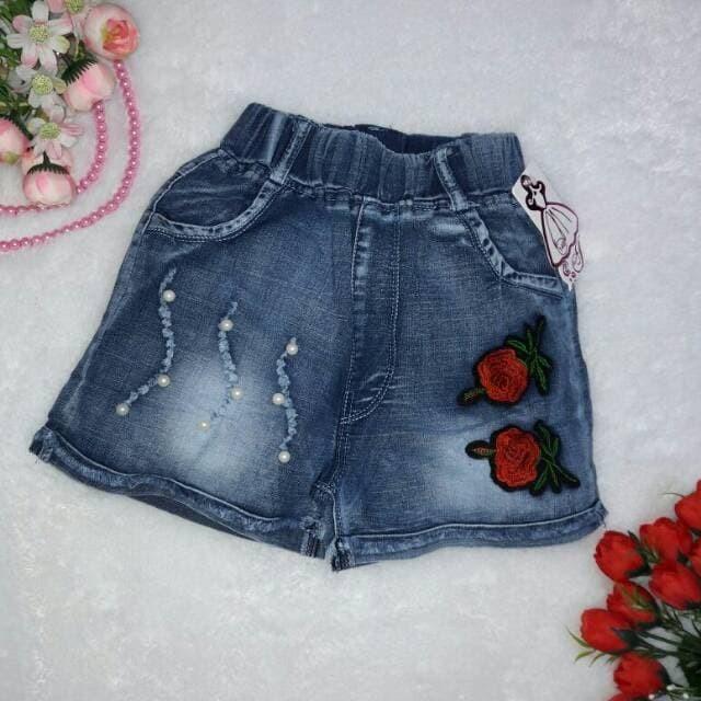 Foto Produk Celana pendek jeans hotpant rose import 5-8th dari gavin store 99