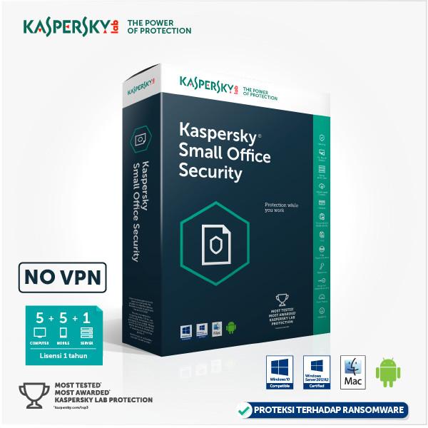 harga Kaspersky small office security - 5+5+1 [original 365 hari] Tokopedia.com