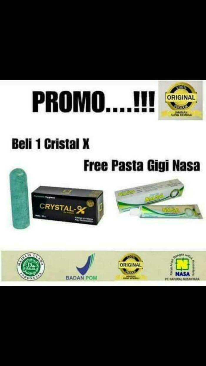 Pasta Gigi Nasa Original Buy1 Get 1 Daftar Harga Terlengkap Indonesia Odol Herbal Crystal X Gratis