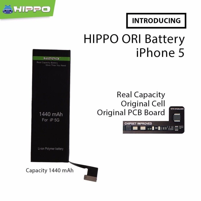 harga Baterai handphone original hippo iphone 5g original cell Tokopedia.com