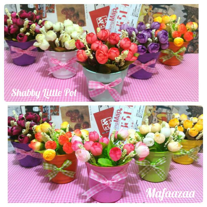 Jual bunga mawar plastik pot bunga mawar mini bunga hias dekorasi ... fc422df96b