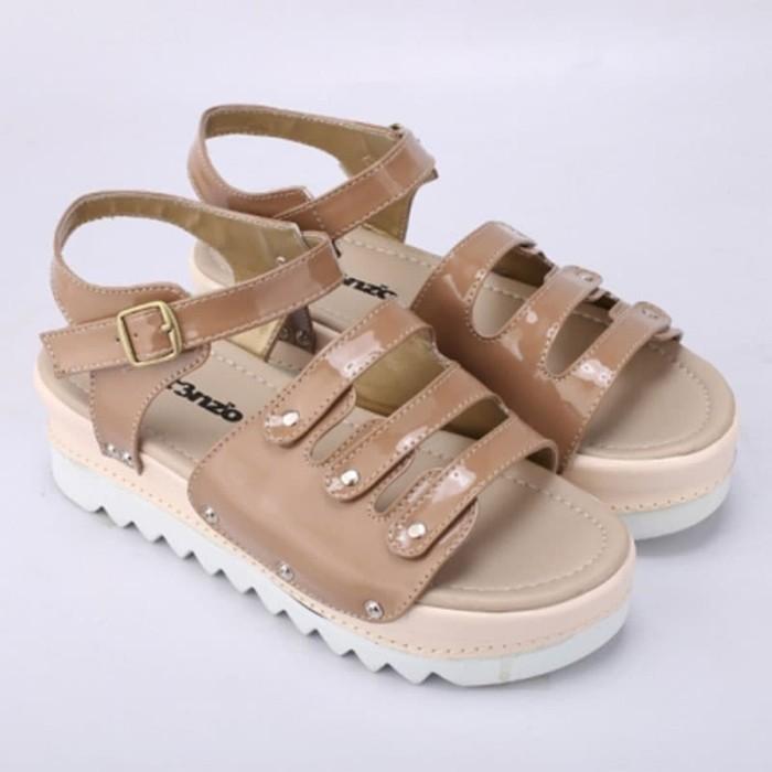 harga Sepatu sandal platform wedges coklat glossy original catenzo mn 043 Tokopedia.com
