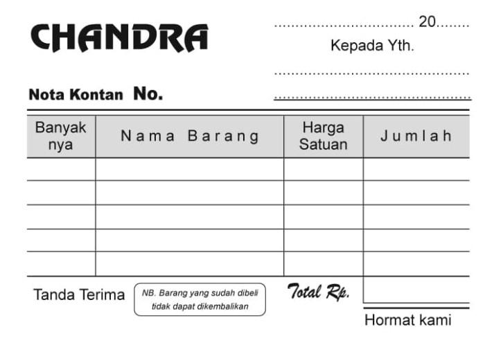 Jual 18f Ncr 2 Ply 1w Custom Nota Surat Jalan Kwitansi Invoice Bon Kota Depok Percetakan Trisakti Tokopedia