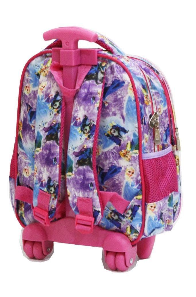 Promo Tas Anak Sekolah Trolley Tk Import - Frozen Flower 5D Timbul