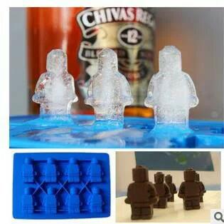 Cetakan coklat praline puding es sabun fondant silikon robot lego