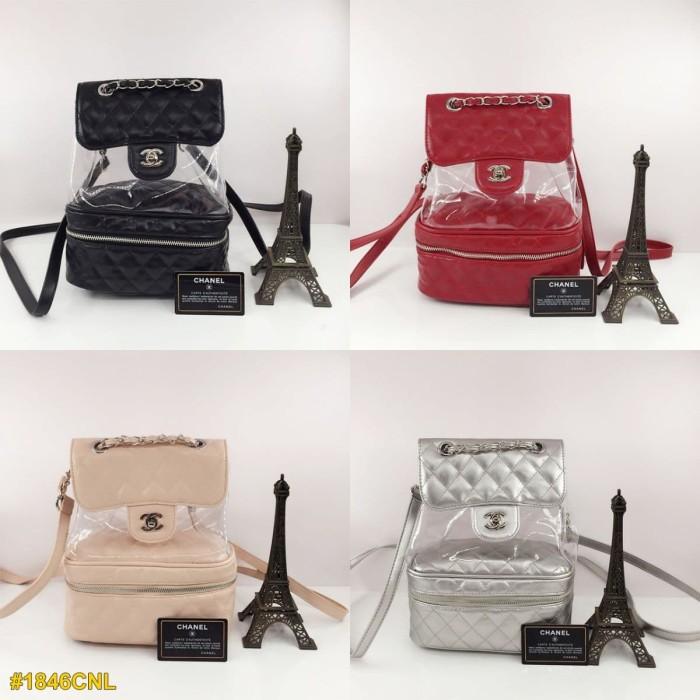 cb246b29e1f7 Jual Tas Chanel Transparent Vanity Flap Backpack - Tas Cewek Fashion ...
