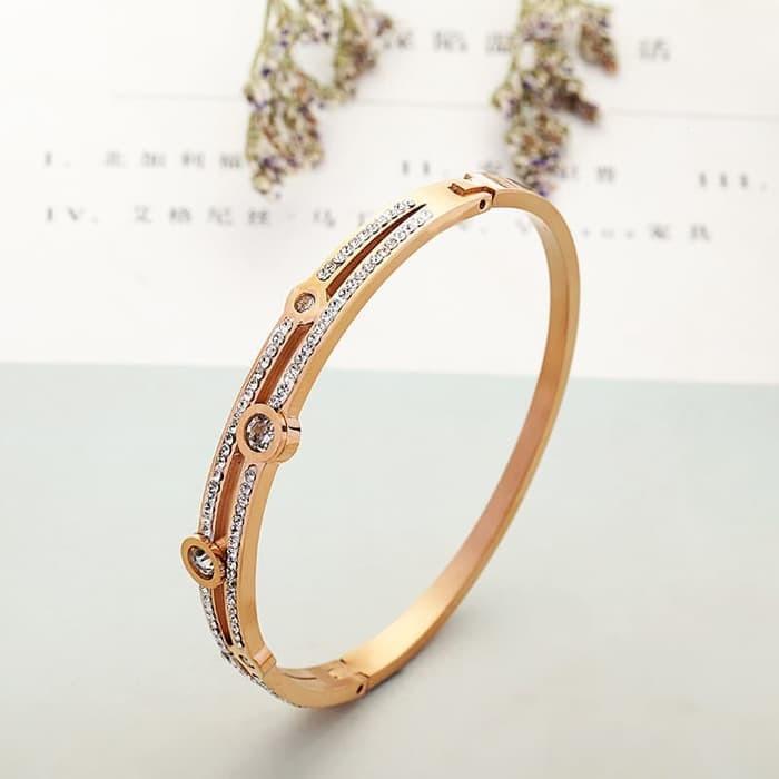 Gelang Wanita Premium Titanium / Bracelet Wanita Korea / Bracelet GT02