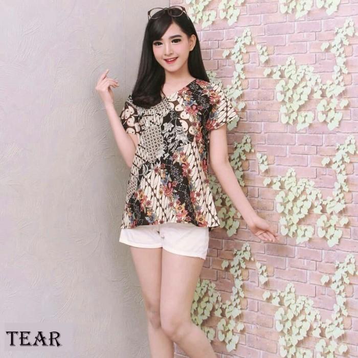 Jual Blouse Batik Cantik   Atasan Batik Wanita   Baju Batik Lengan ... b3fa153268