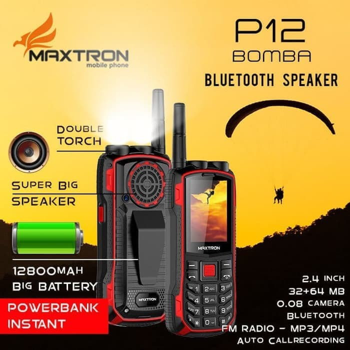 harga Handphone maxtron p12 bomba new big speaker Tokopedia.com