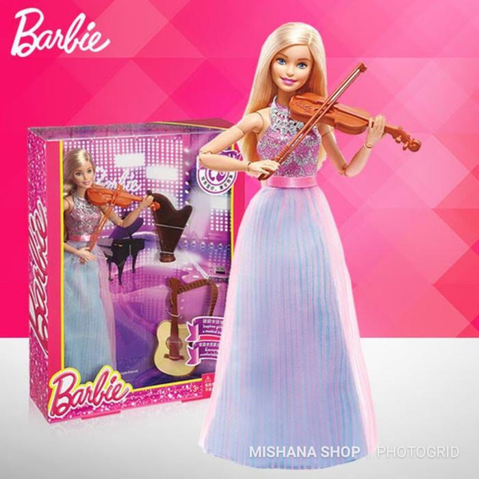 harga Boneka barbie mattel instruments doll gitar biola harpa jointed hand Tokopedia.com