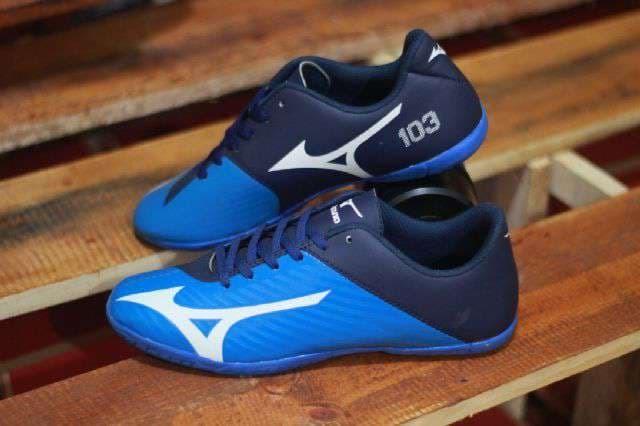 Jual sepatu futsal pria mizuno 103 biru - Djaya Footwear Bandung ... 7b3bc62a48