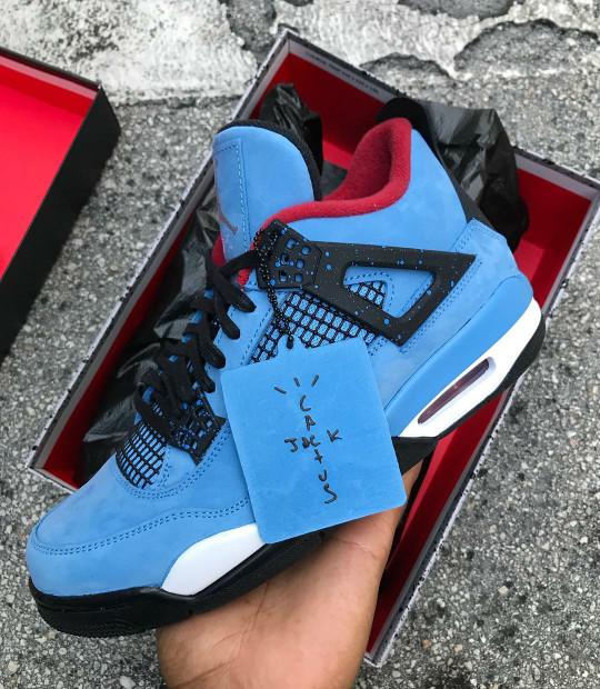 Jual Nike Air Jordan 4 X Travis Scott Cactus Jack Kota Surabaya
