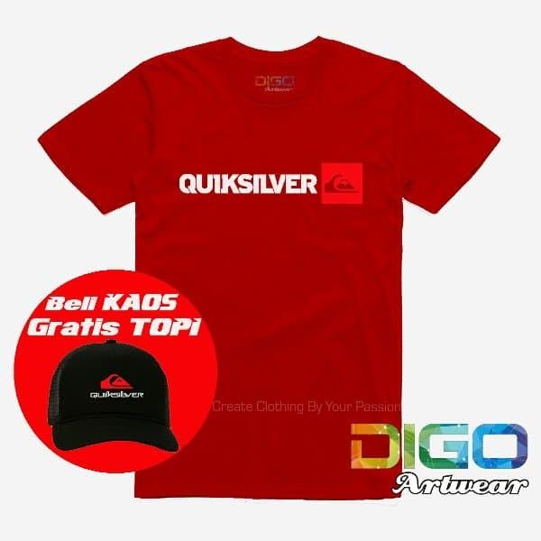 Kaos Quicksilver Logo Combed Distro Bonus Topi Quicksilver Exclusif ... 021be19ccc
