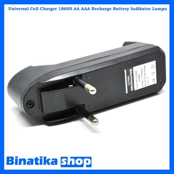 Foto Produk Universal Cell Charger 18650 AA - AAA Recharge Battery Indikator Lampu dari Binatika Shop