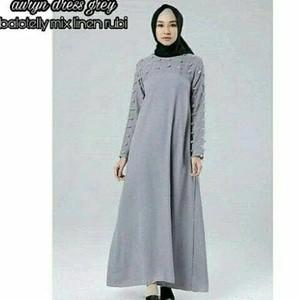 harga Auryn dress abu busana muslim hits baju muslim wanita modern Tokopedia.com