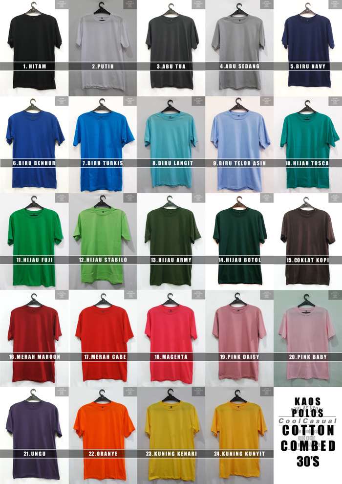 Jual Grosir Kaos Polos Baju Polos Bandung - Coolcasual  b7e17a4047