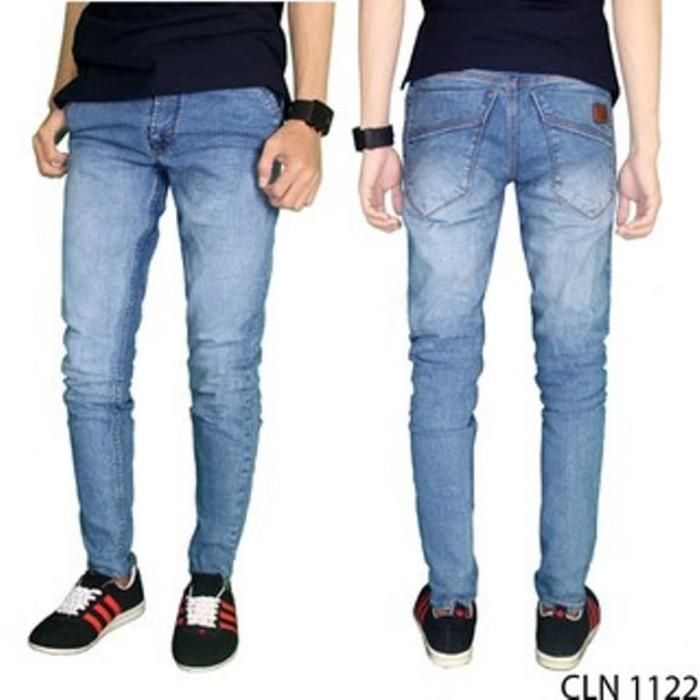 YM fashion terbaru Celana Jeans Panjang Pria Denim Biru – CLN 1122