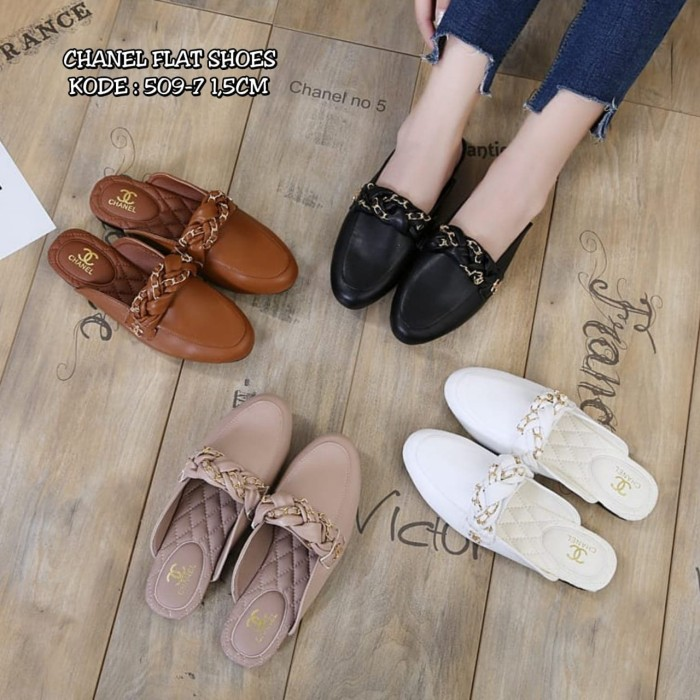 Jual BEST SELLER CHANEL LOAFERS SHOES-flat shoes branded - VYJ ... ad86a00117